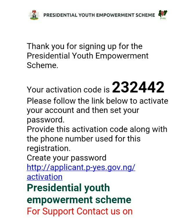 P-YES activation code